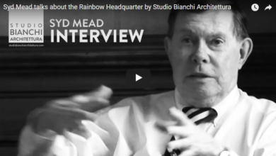 Photo of Syd Mead talks about the Rainbow Headquarter by Studio Bianchi Architettura