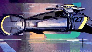 Photo of Blade Runner 2019 Spinner Side View