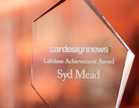 Photo of Syd Mead given CDN's Lifetime Achievement Award