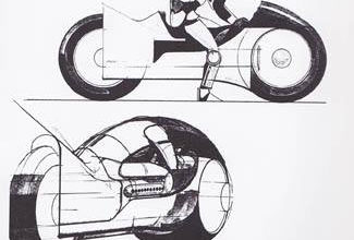 Photo of Syd Mead TRON Light Cycle Design 01