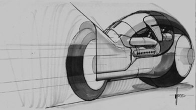 Photo of Syd Mead TRON Light Cycle Design 03
