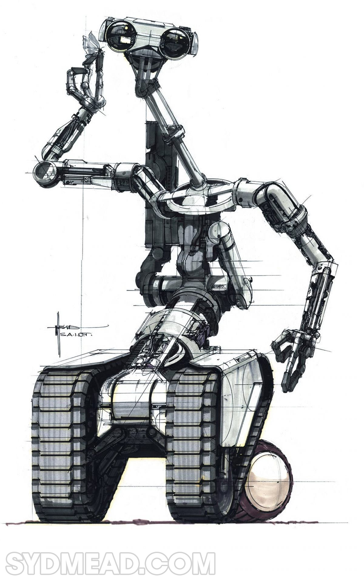 syd mead short circuit robot  u2013 official syd mead website 2019