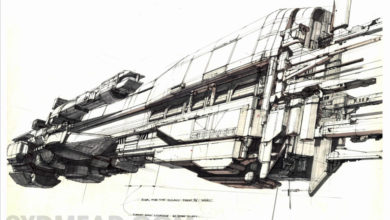 Photo of Syd Mead Aliens Sulaco Ship Final