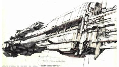 Photo of Syd Mead Aliens Sulaco Ship Final