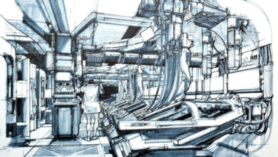 Photo of Syd Mead Aliens Sulaco Pod Design