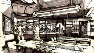 Photo of Syd Mead Aliens Sulaco Interior 01