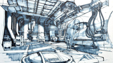 Photo of Syd Mead Aliens Sulaco Interior 03