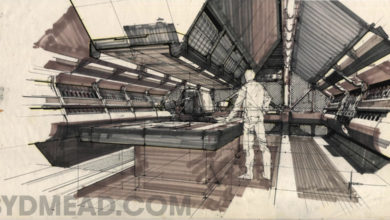 Photo of Syd Mead Aliens Sulaco Interior 02
