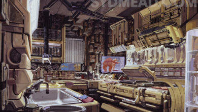 Photo of Syd Mead Blade Runner 2019 Deckard Kitchen