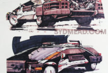 Photo of Syd Mead Blade Runner 2019 Deckard Police Car