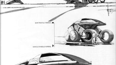 Photo of Syd Mead Forbidden Planet Sketch 02