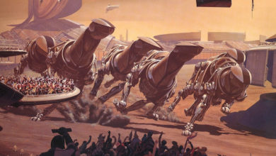 Photo of Syd Mead Running of the Six Drgxx