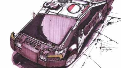 Photo of Syd Mead Blade Runner Spinner Sketch 01