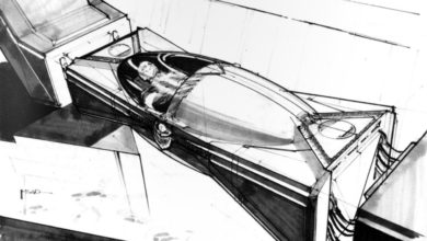 Photo of Syd Mead Blade Runner Elden Tyrell Tomb