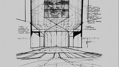 Photo of Syd Mead TRON Master Control Program (MCP) Design