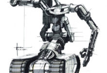 Photo of Syd Mead Short Circuit Robot