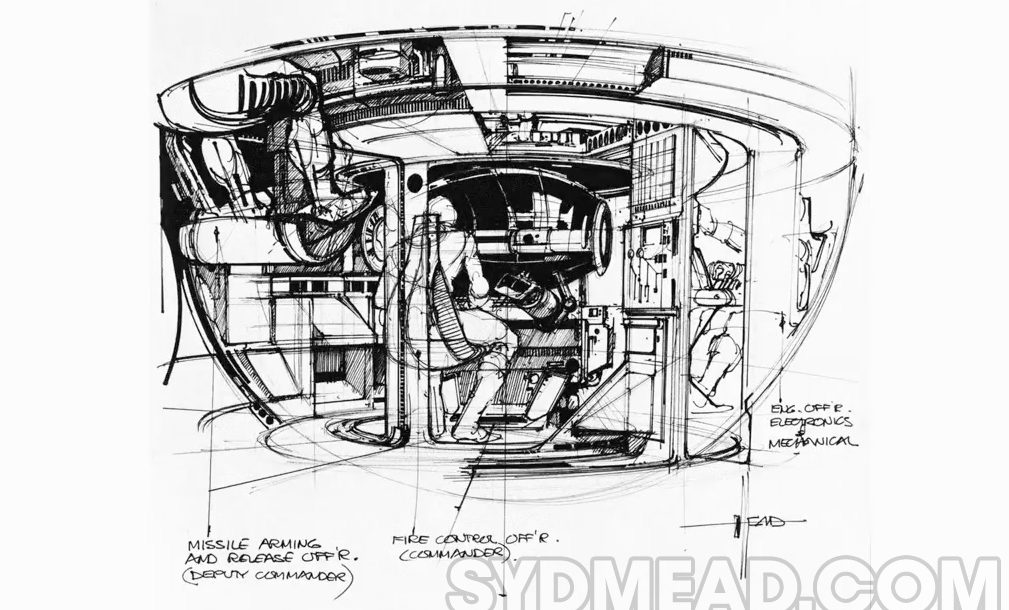 syd mead tron tank interior sketch  u2013 official syd mead